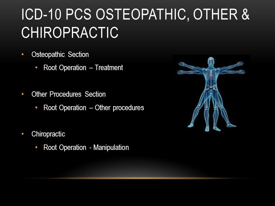 ICD-10 PCS Osteopathic, other & Chiropractic