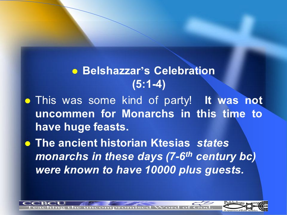 Belshazzar's Celebration (5:1-4)