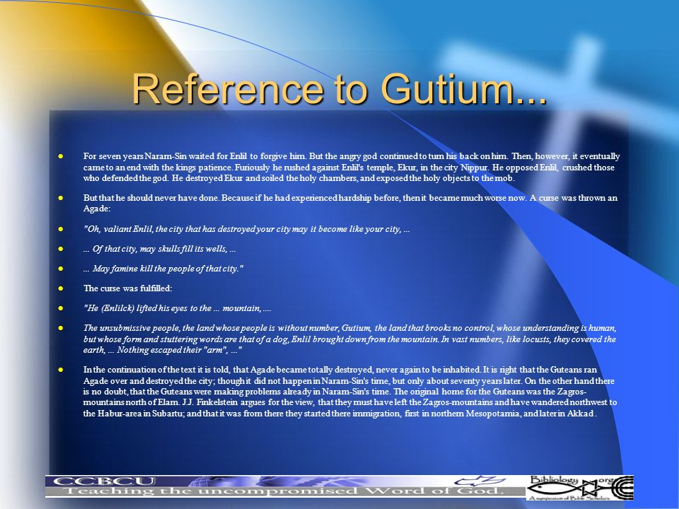 Reference to Gutium...