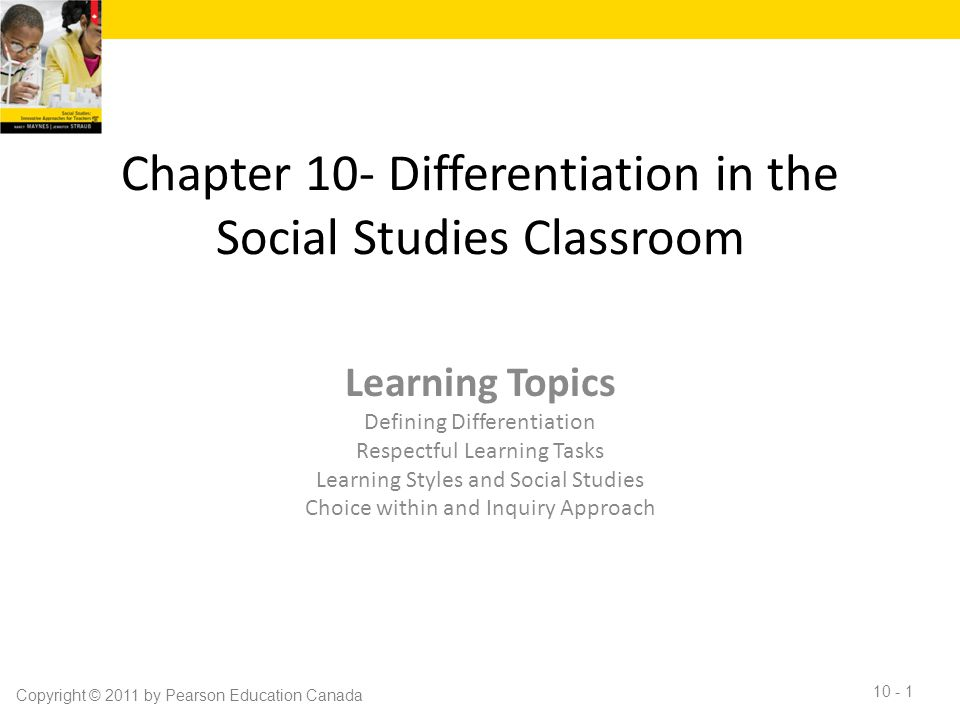 Chapter 10- Differentiation in the Social Studies Classroom