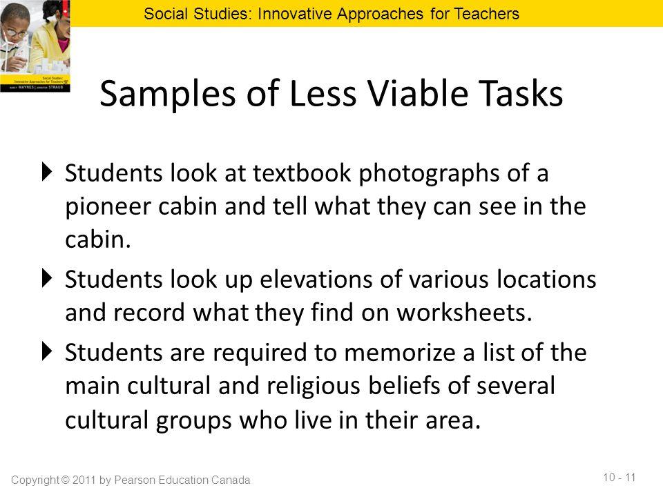 Samples of Less Viable Tasks