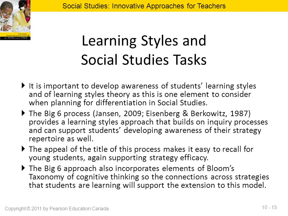 Learning Styles and Social Studies Tasks