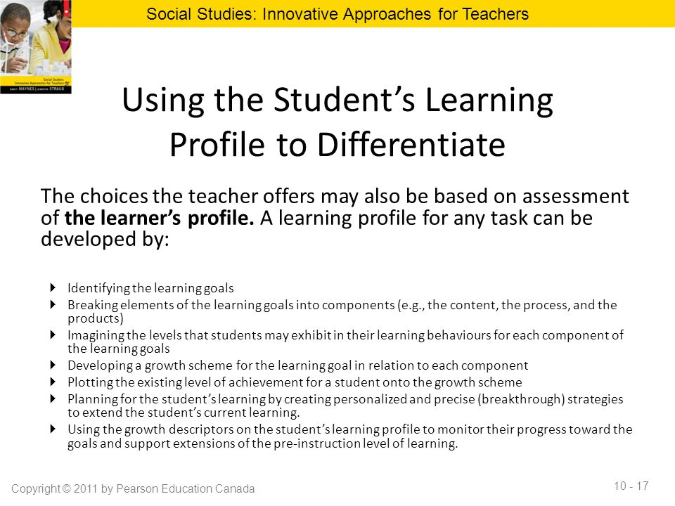 Using the Student's Learning Profile to Differentiate