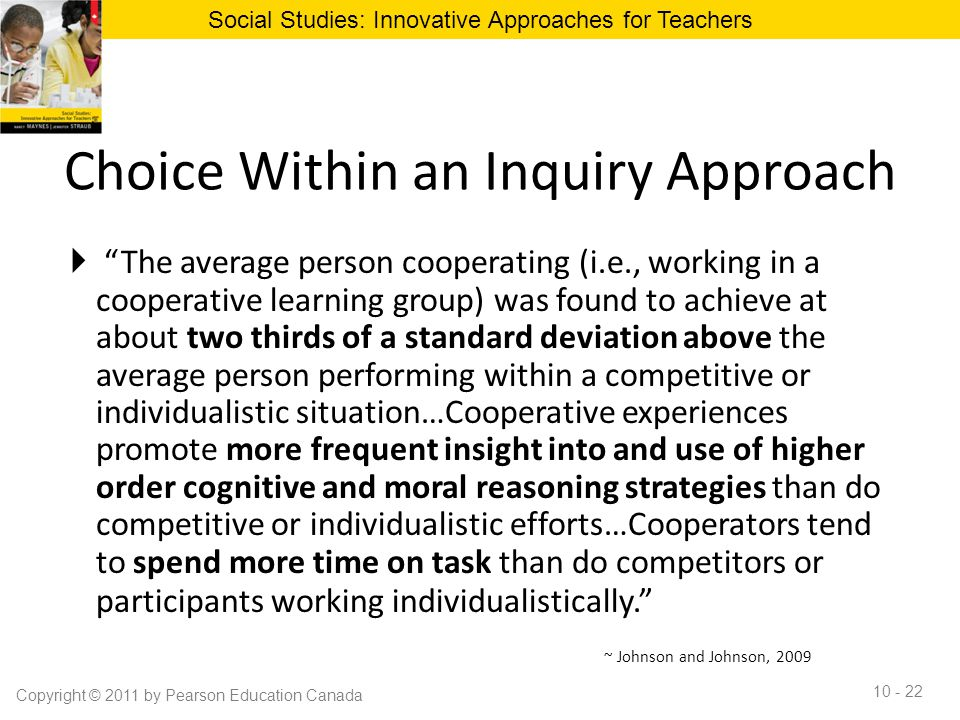 Choice Within an Inquiry Approach