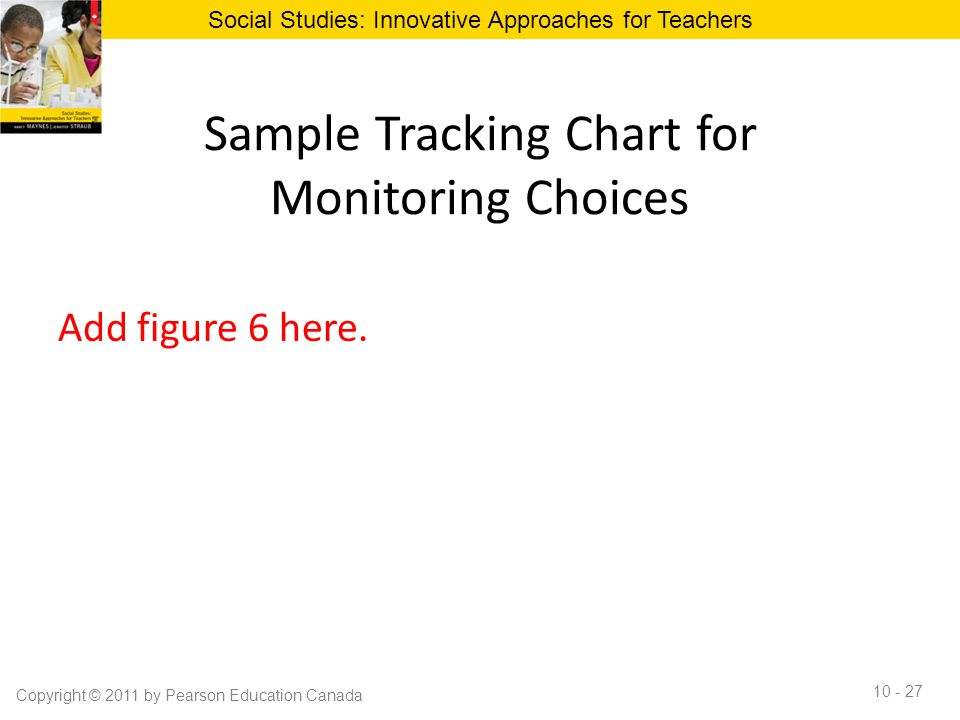 Sample Tracking Chart for Monitoring Choices