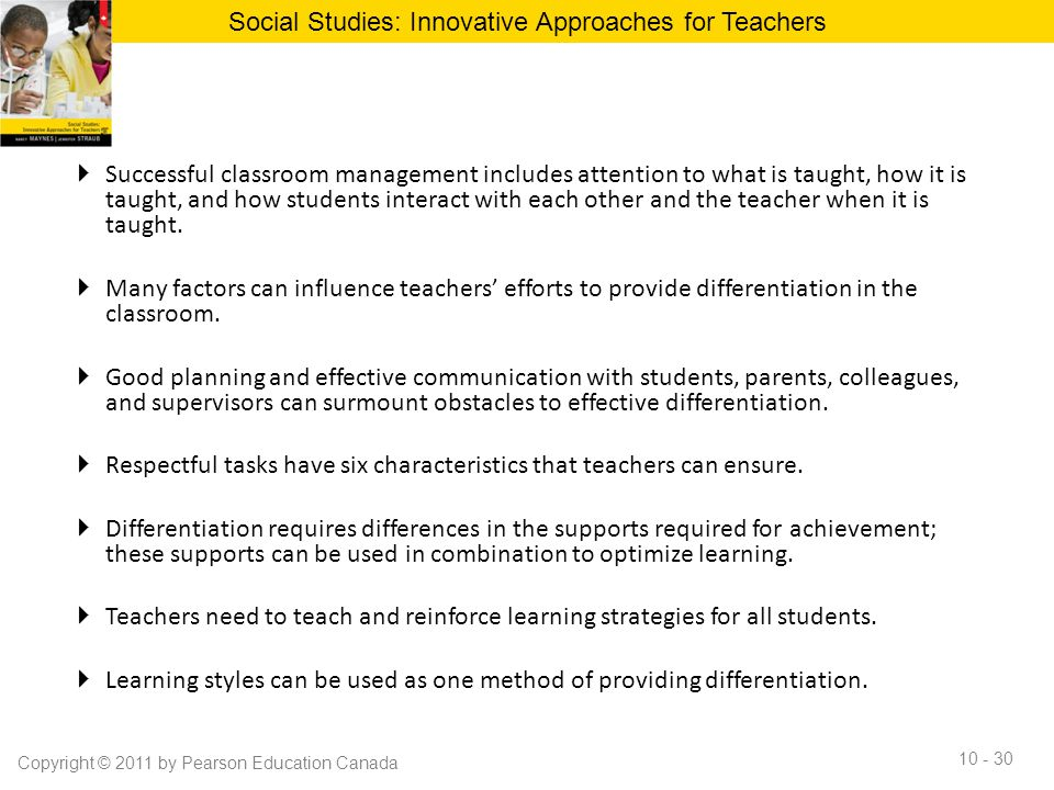 Social Studies: Innovative Approaches for Teachers