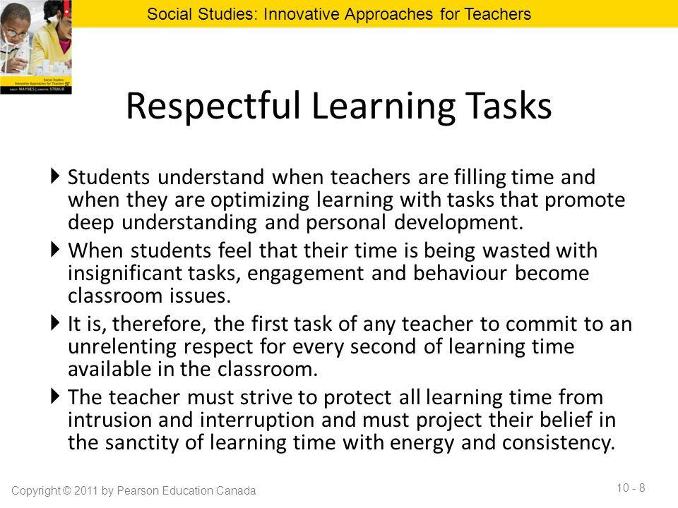 Respectful Learning Tasks