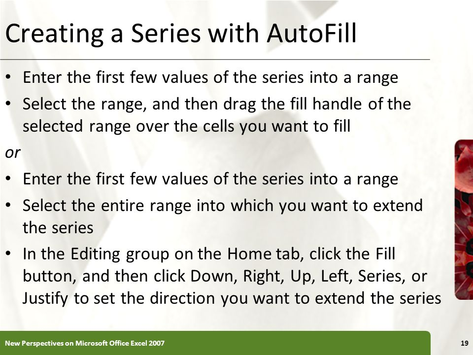 Creating a Series with AutoFill