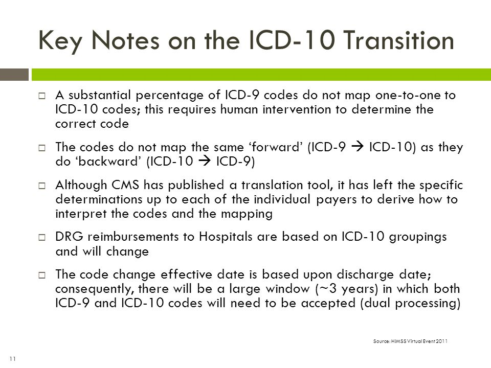 Key Notes on the ICD-10 Transition