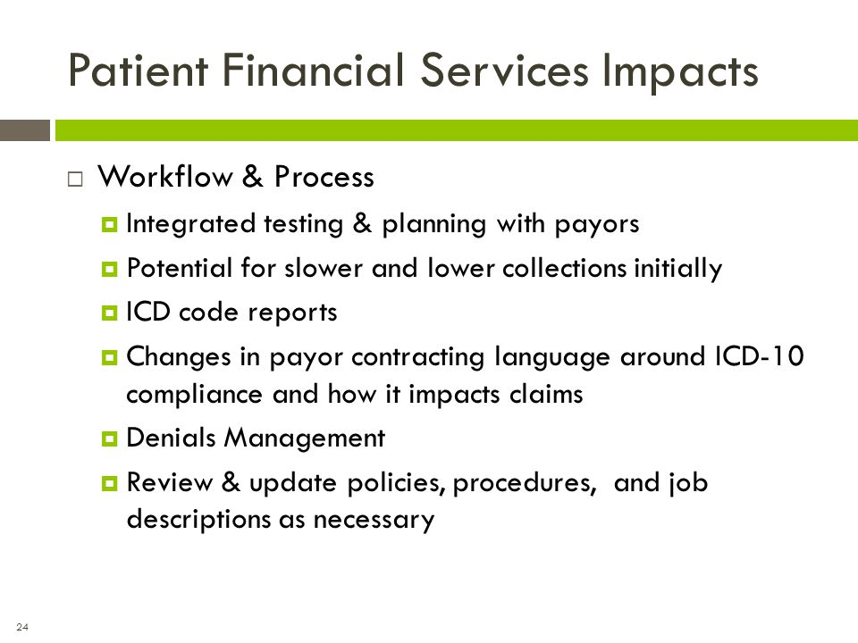 Patient Financial Services Impacts