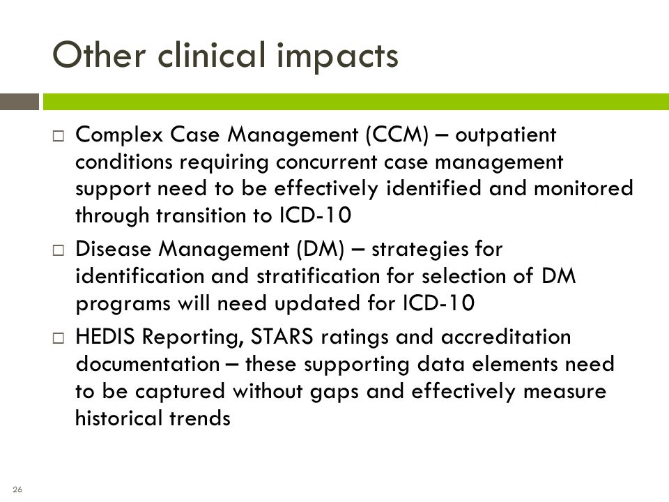 Other clinical impacts