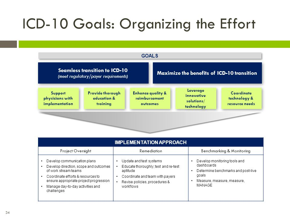 ICD-10 Goals: Organizing the Effort
