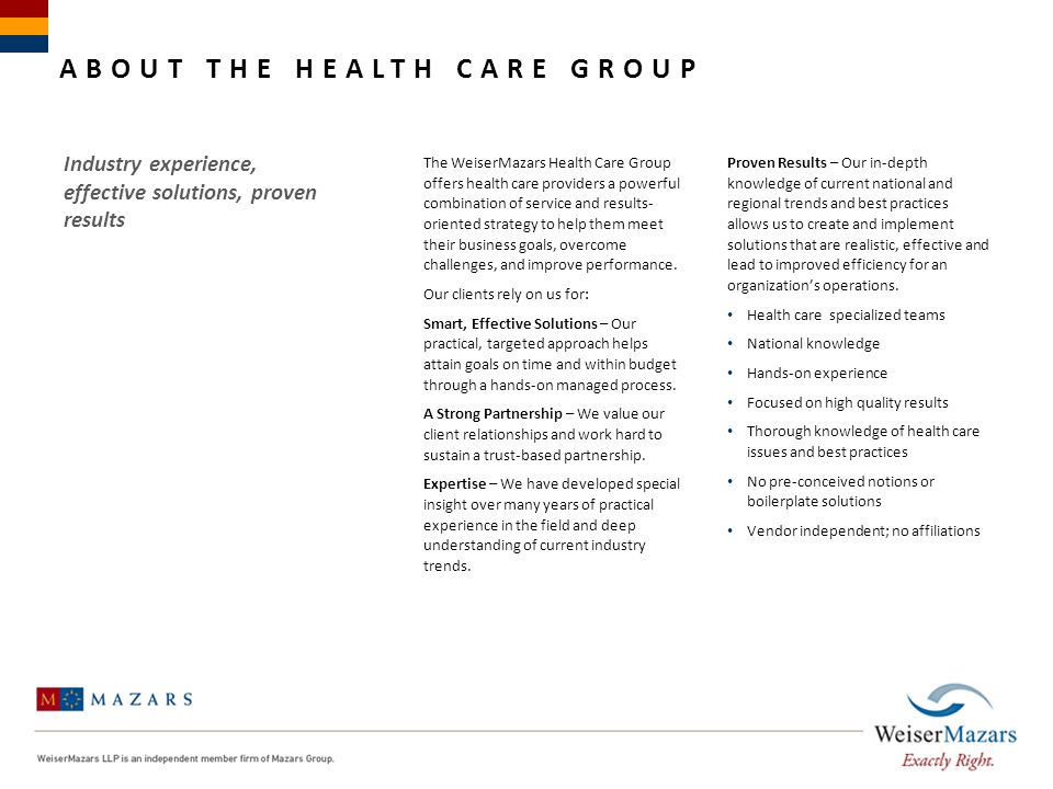 About The Health Care Group