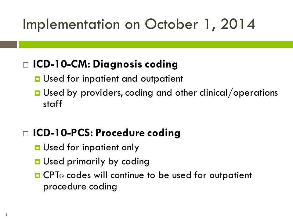 Implementation on October 1, 2014