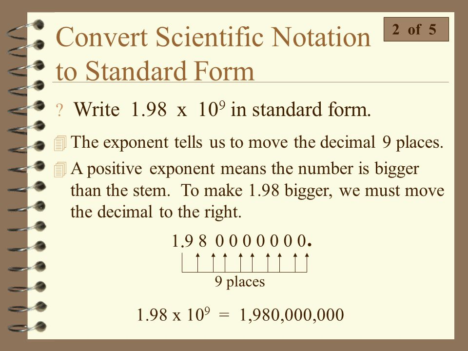 How To Convert From Scientific Notation To Standard Form Dolap