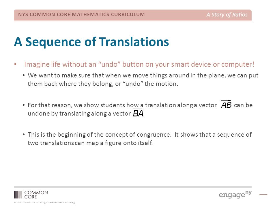 A Sequence of Translations