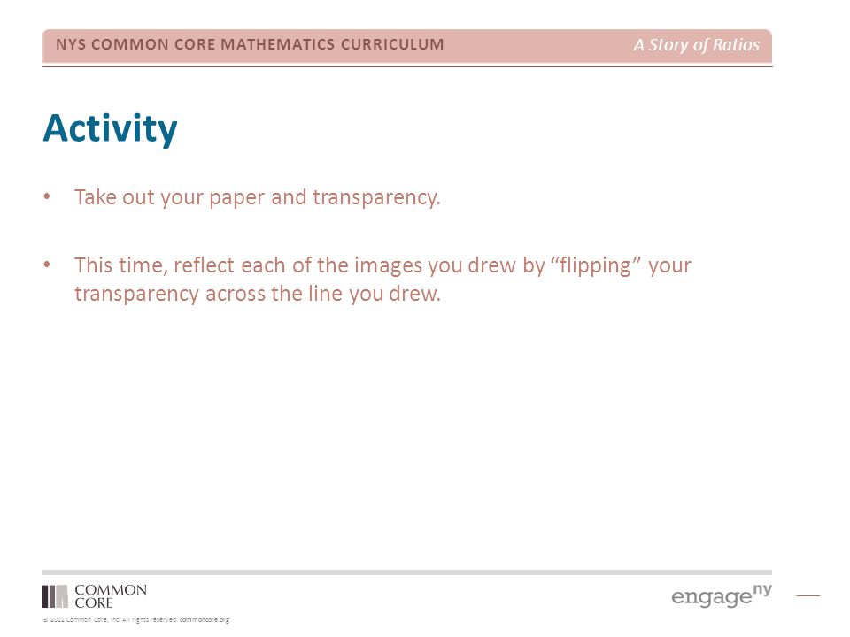 Activity Take out your paper and transparency.