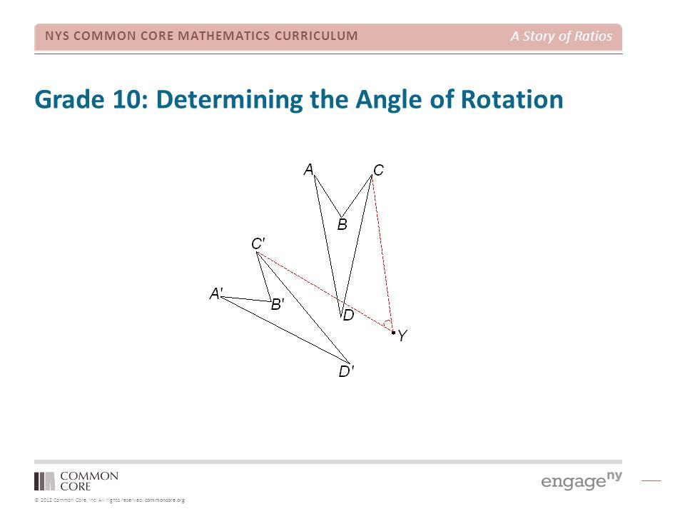 Grade 10: Determining the Angle of Rotation