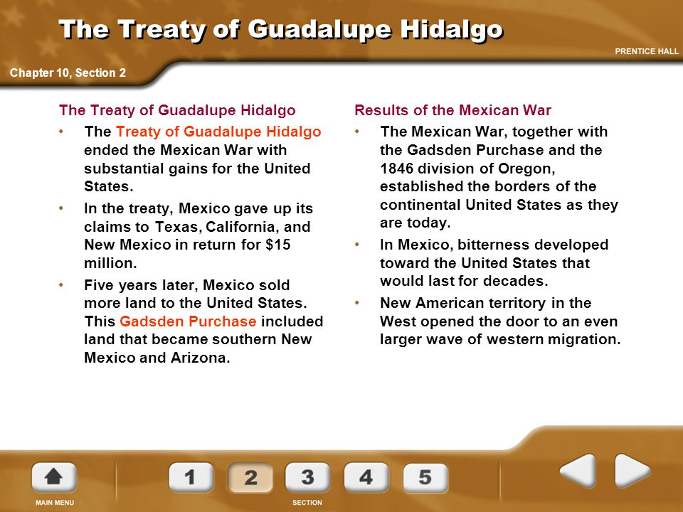 The Treaty of Guadalupe Hidalgo