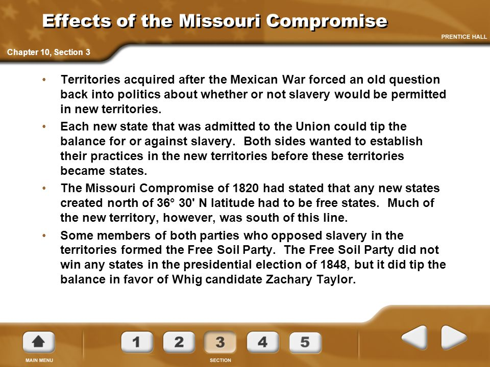 Effects of the Missouri Compromise