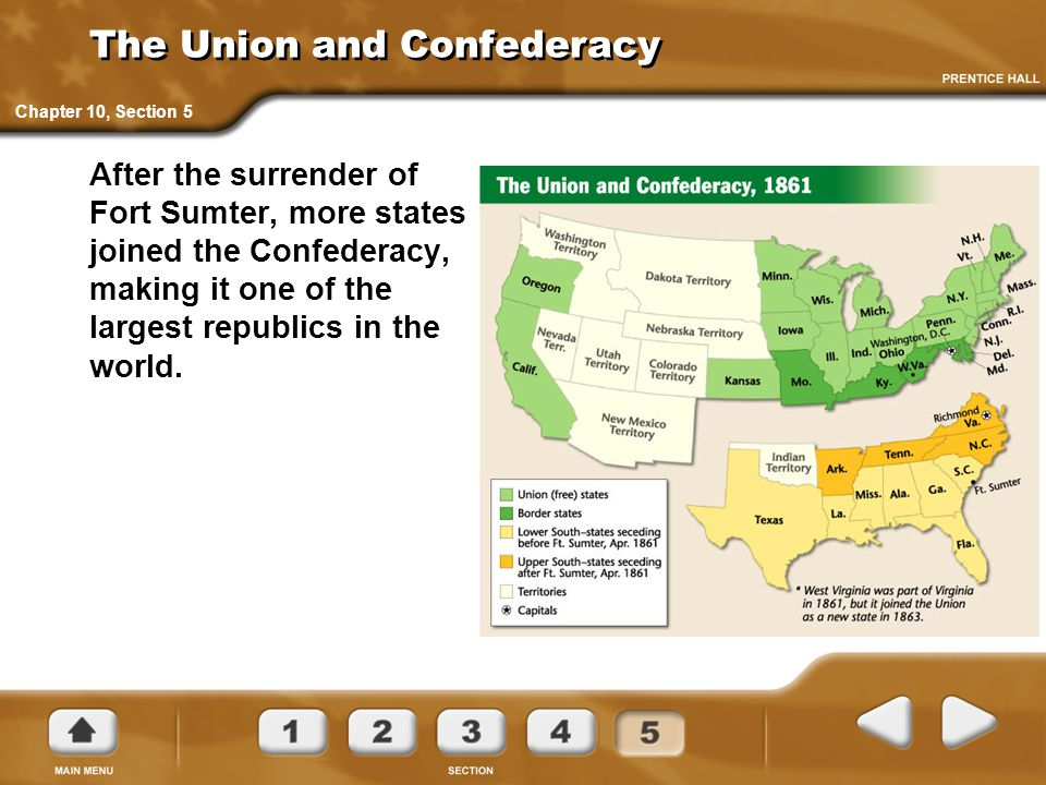 The Union and Confederacy
