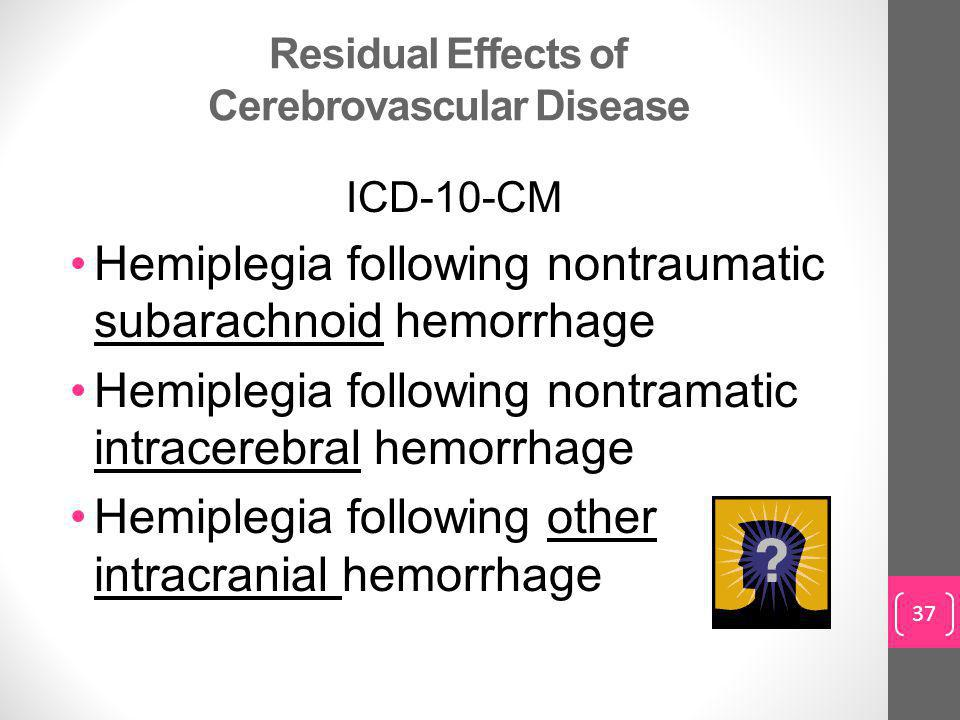 Residual Effects of Cerebrovascular Disease