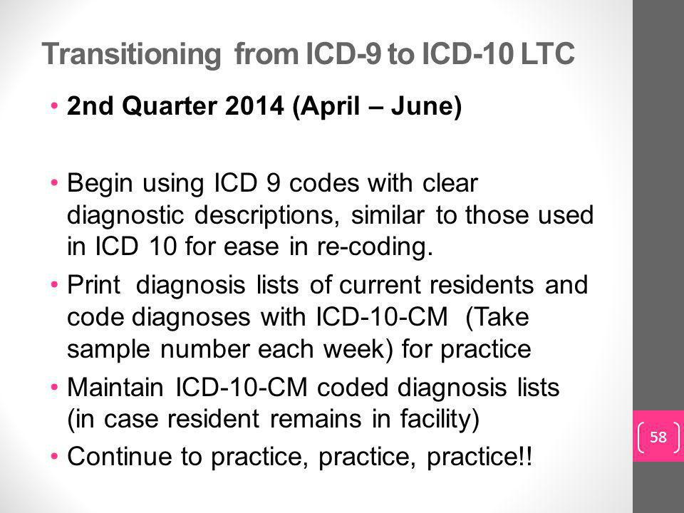 Transitioning from ICD-9 to ICD-10 LTC