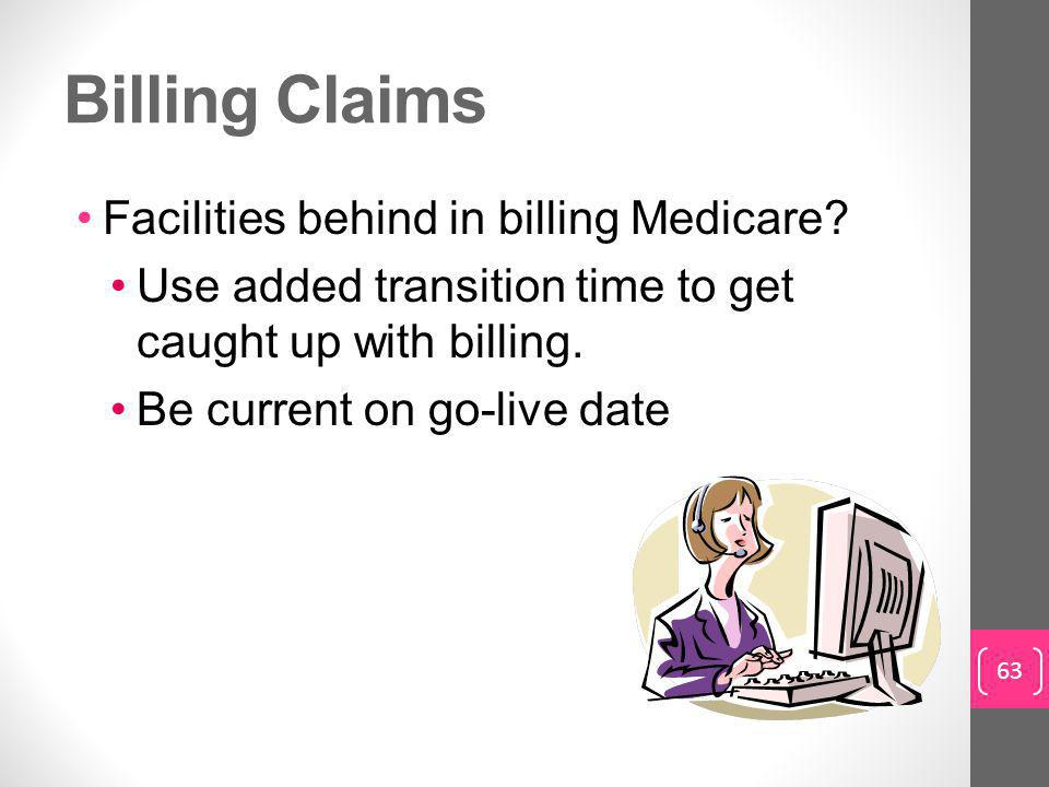 Billing Claims Facilities behind in billing Medicare