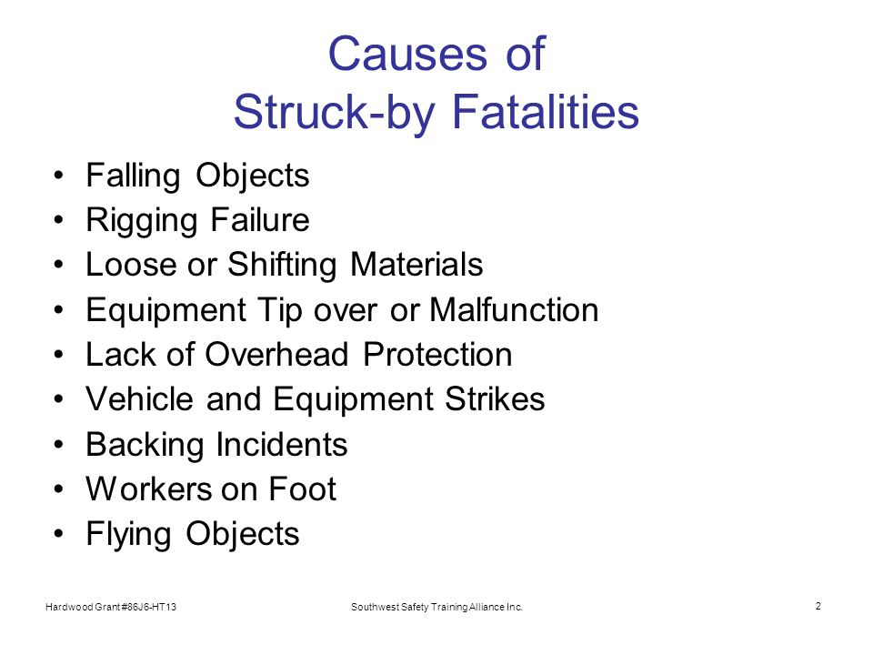 Causes of Struck-by Fatalities