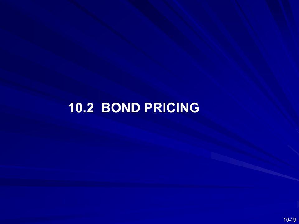10.2 BOND PRICING