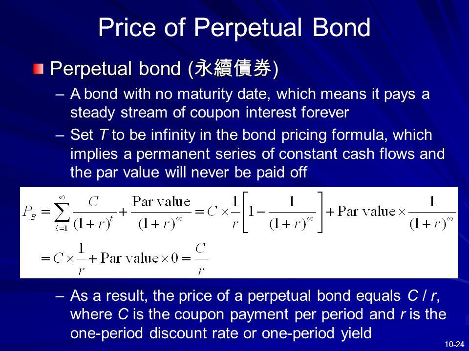 Price of Perpetual Bond
