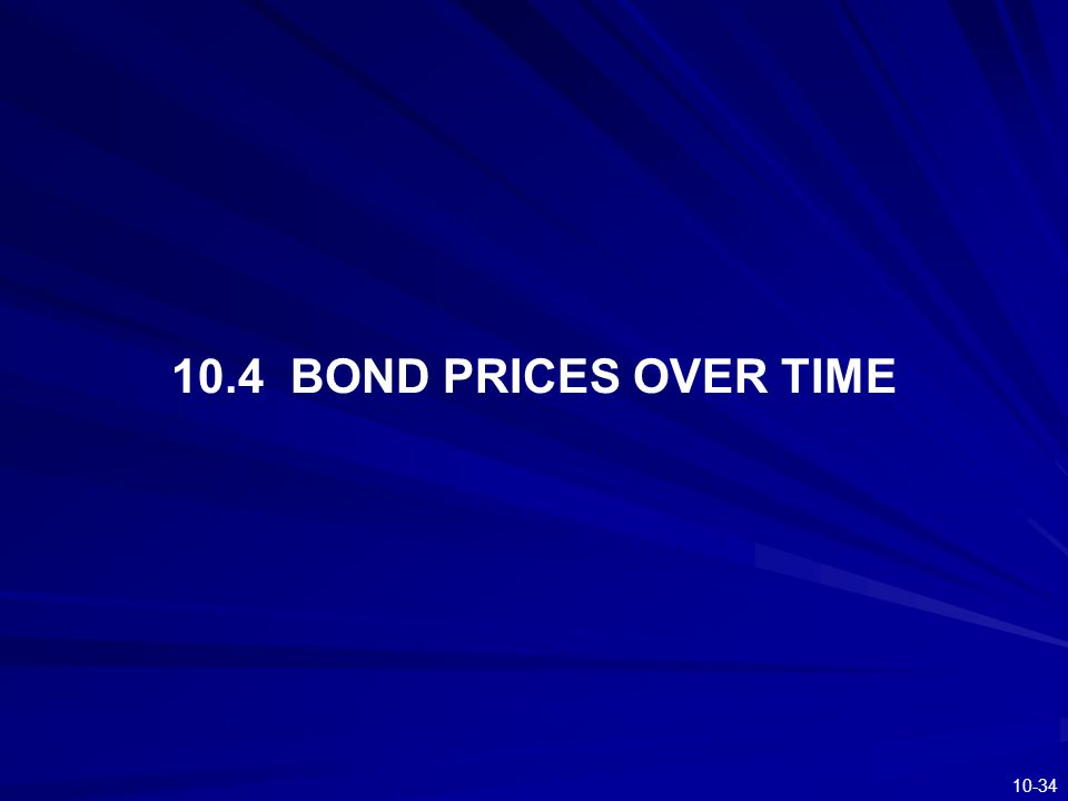10.4 BOND PRICES OVER TIME