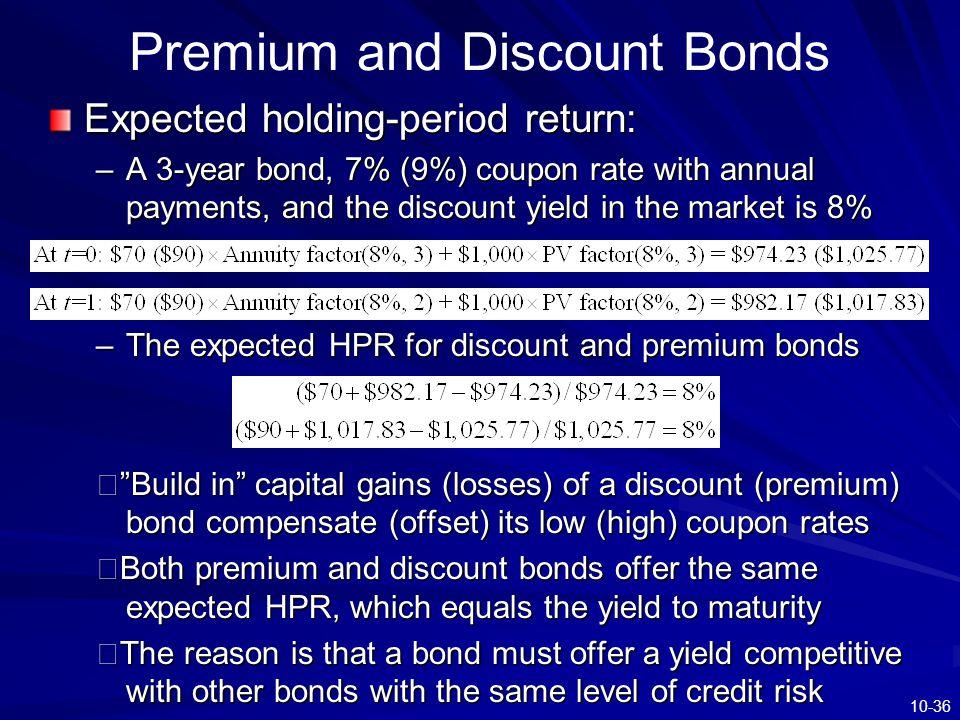 Premium and Discount Bonds