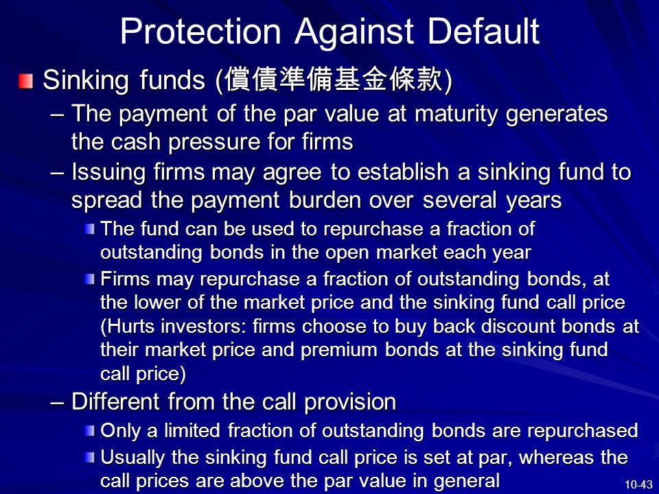 Protection Against Default