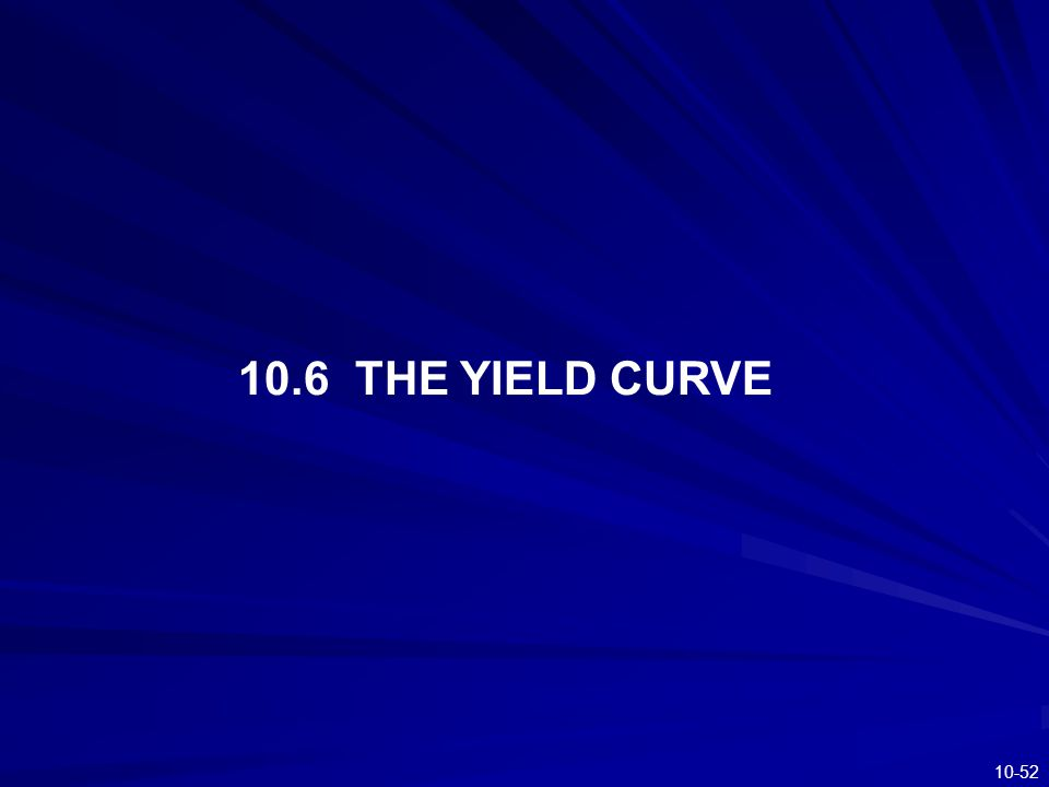 10.6 THE YIELD CURVE