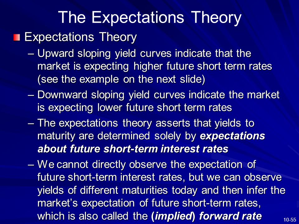 The Expectations Theory