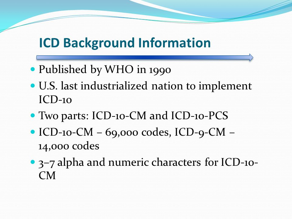 ICD Background Information