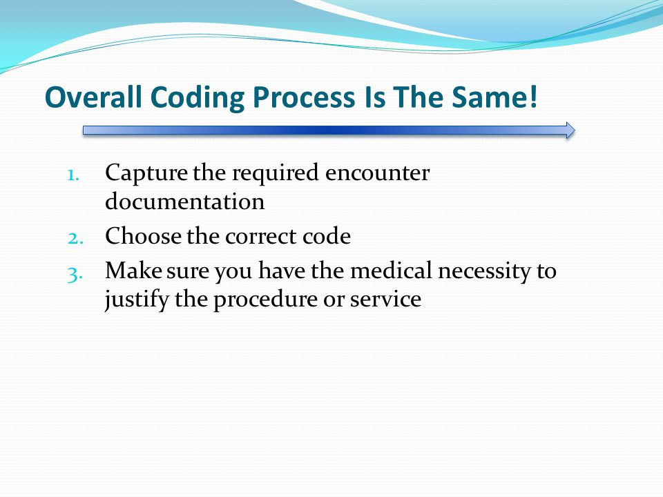Overall Coding Process Is The Same!