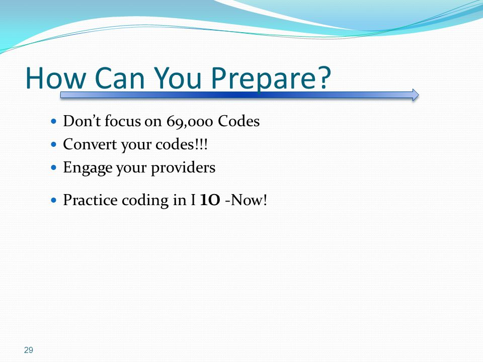 How Can You Prepare Don't focus on 69,000 Codes Convert your codes!!!