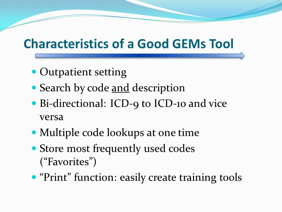 Characteristics of a Good GEMs Tool