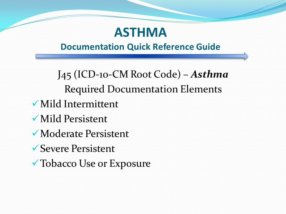 ASTHMA Documentation Quick Reference Guide