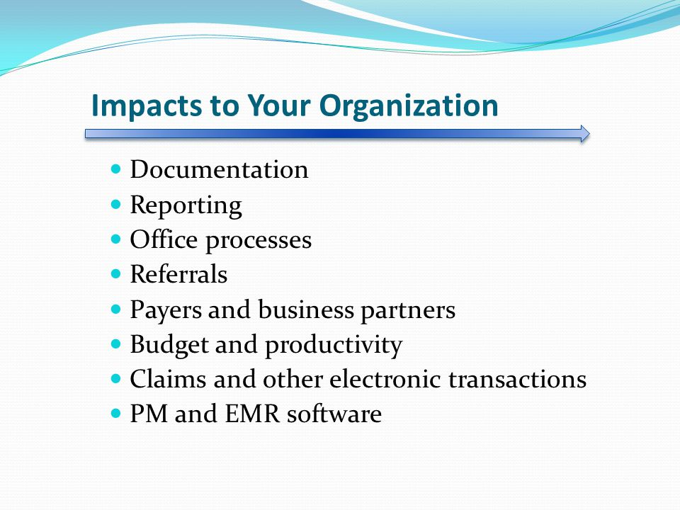 Impacts to Your Organization