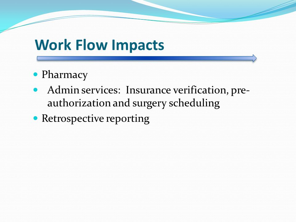 Work Flow Impacts Pharmacy