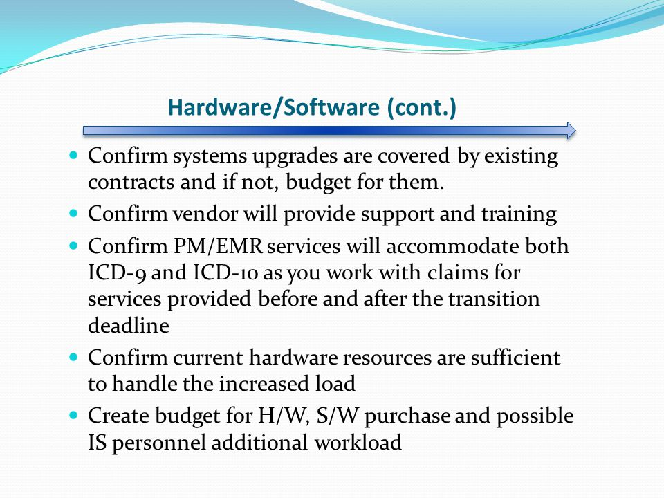 Hardware/Software (cont.)
