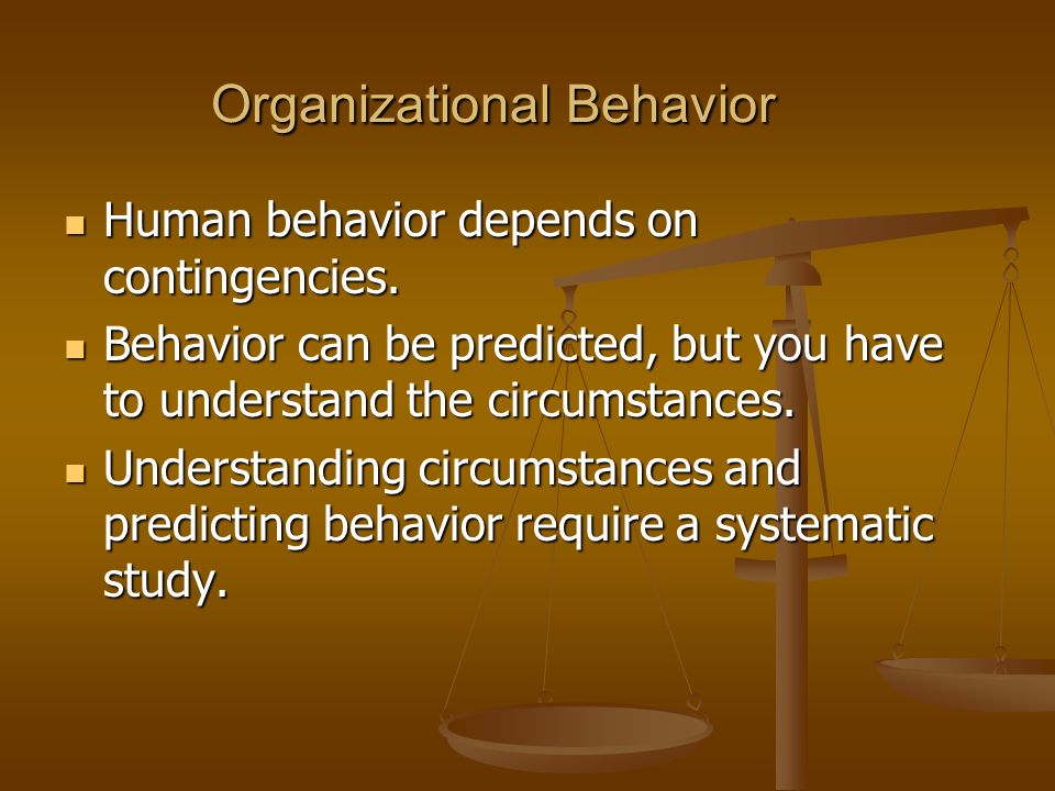 issues in organizational behavior Ethical issues in organizational behavior 1 ethical issues inorganizational behavior 2 ethics: the study of moralphilosophy• centuries of examining the basic question of how people should live their lives• some specific questions• some of he essence of ethics and moral philosophy is its reflective quality – sitting back and looking at the way things are customarily done and asking.