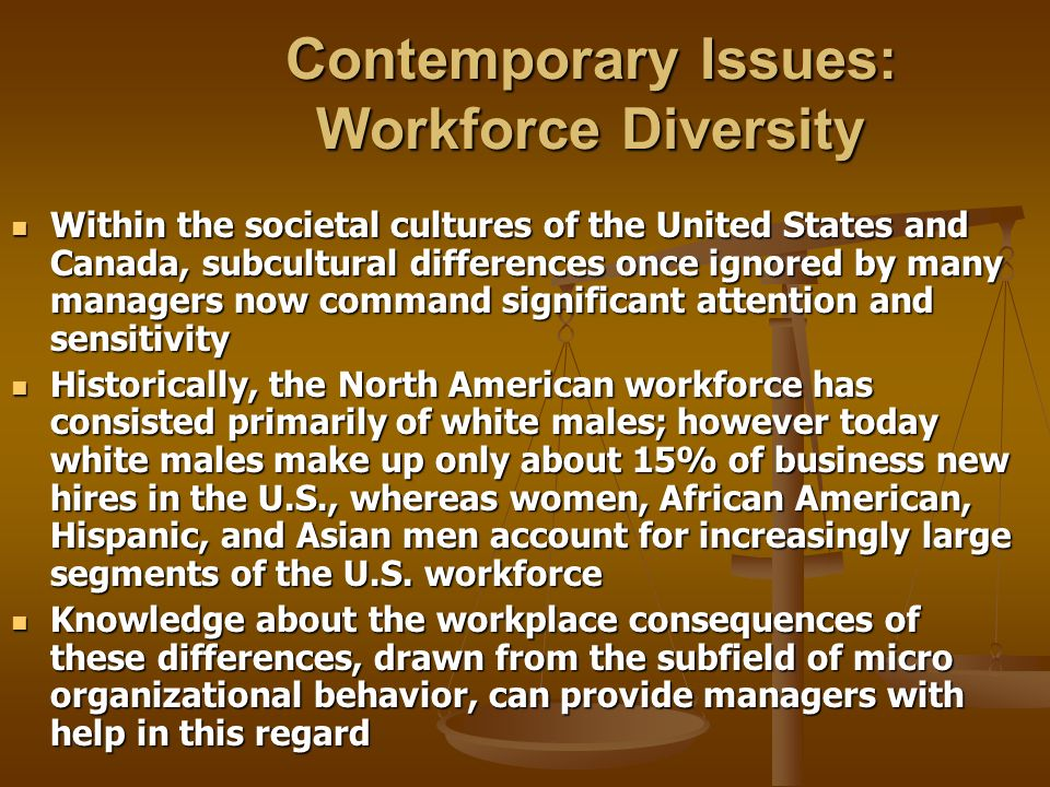 Contemporary Issues: Workforce Diversity