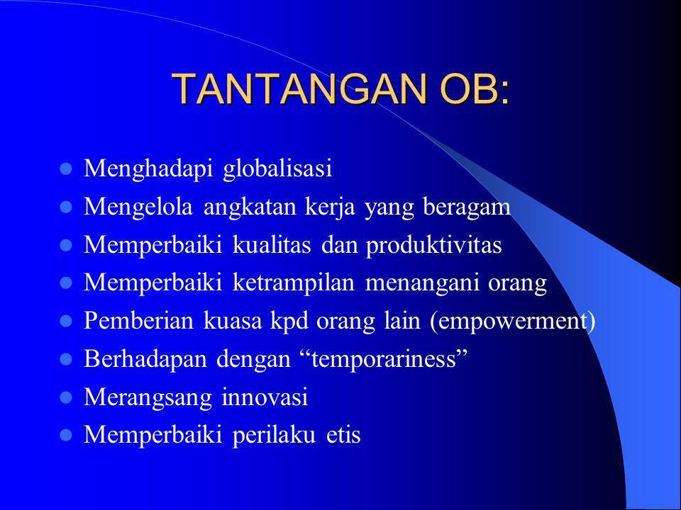 TANTANGAN OB: Menghadapi globalisasi