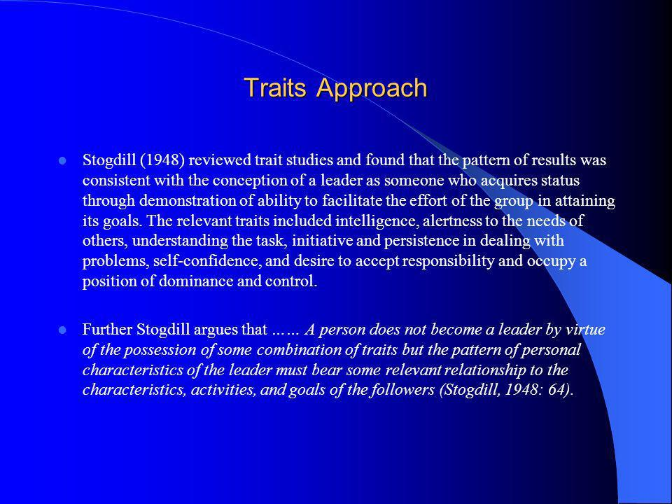 Traits Approach