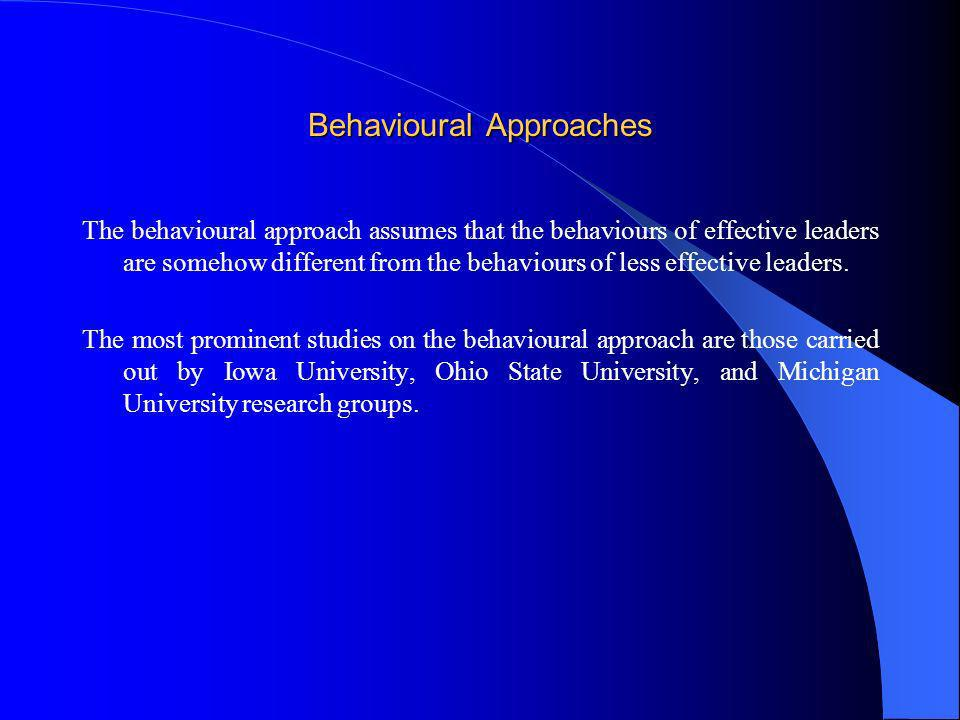 Behavioural Approaches