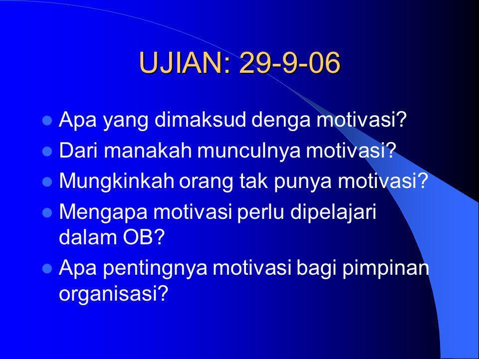 UJIAN: 29-9-06 Apa yang dimaksud denga motivasi